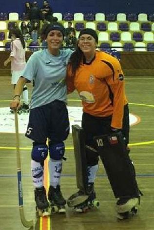 Ayleen Garrido y Paulina Santibáñez comenzaron en cancha su aventura europea.